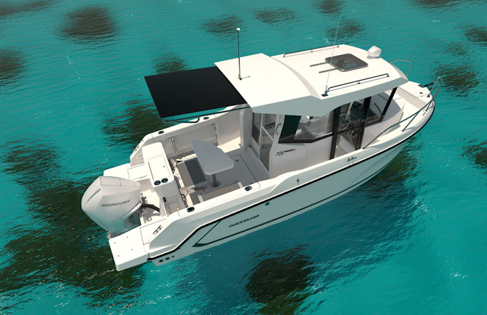 Quicksilver 705 Pilothouse, plus sportif et plus moderne