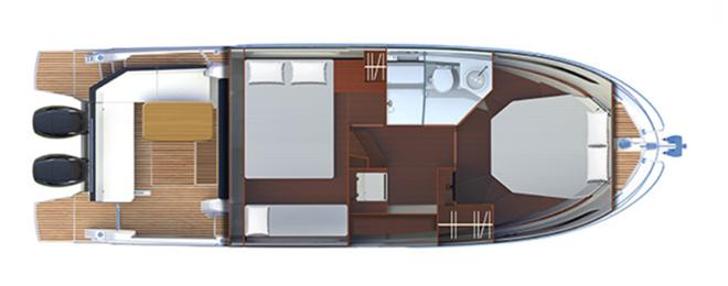 Beneteau Antares 11 plan de pont