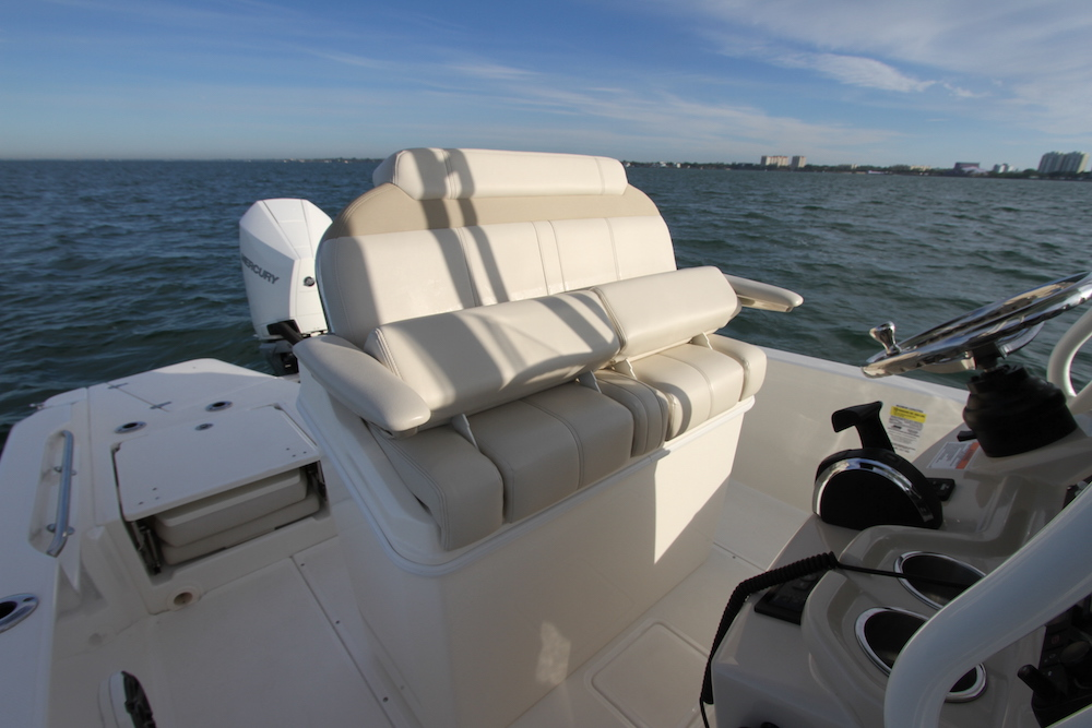 Boston Whaler 250 Dauntless_leaning-post