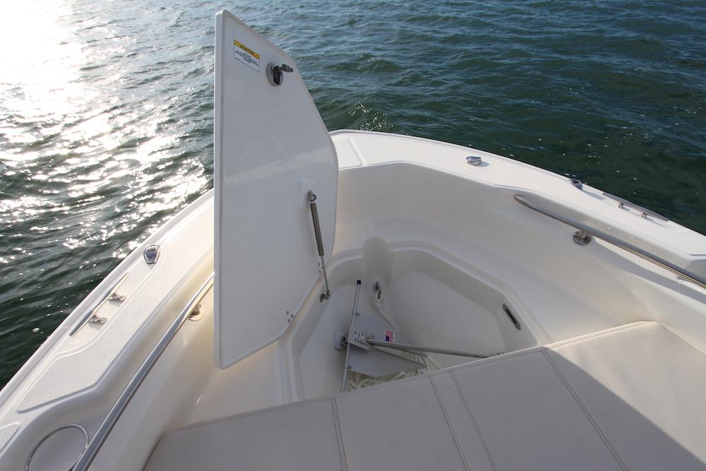 Boston Whaler 250 Dauntless_baille avant