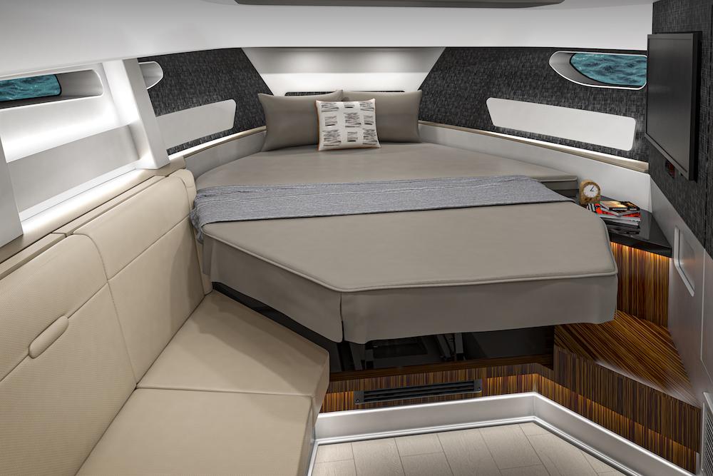 Sea Ray Sundancer-370-hors-bord_ cabine avant