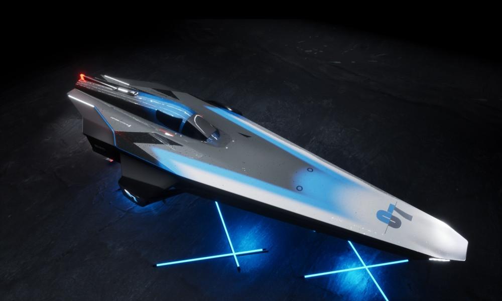 Course bateau électrique Racebird avant