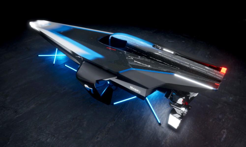 Course bateau électrique Racebird arrière